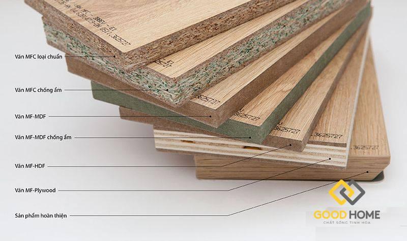 Các loại cốt gỗ công nghiệp